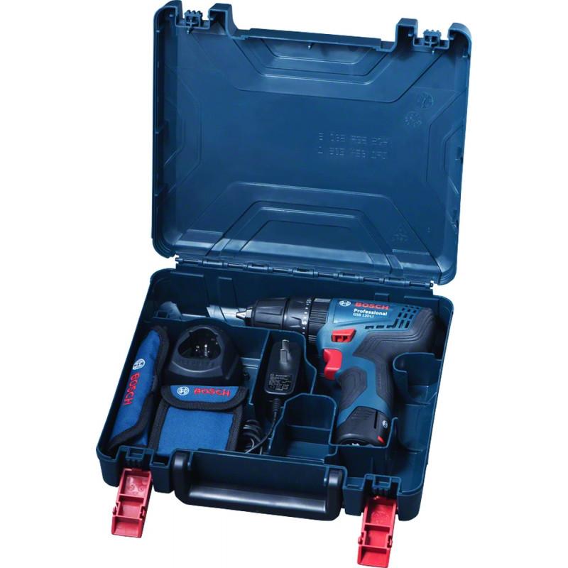 Дрель-шуруповерт ударная Bosch GSB 120-LI аккум. патрон:быстрозажимной (кейс в комплекте)