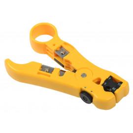 Инструмент ITK TS2-GR20 для зачистки кабеля UTP (упак:1шт) желтый