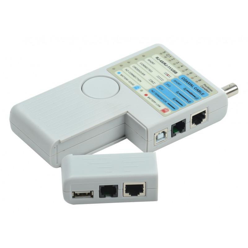 Тестер кабельный ITK WH3468 для витой пары +чехол/элемент питания