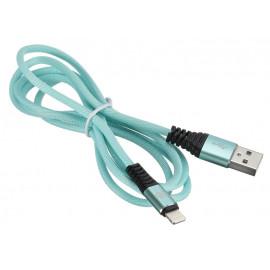 Кабель Digma USB A(m) Lightning (m) 1.2м зеленый