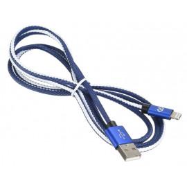 Кабель Digma USB A(m) Lightning (m) 1.2м синий