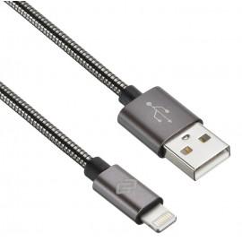 Кабель Digma USB (m)-Lightning (m) 1.2м черный