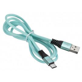 Кабель Digma USB A(m) USB Type-C (m) 1.2м зеленый