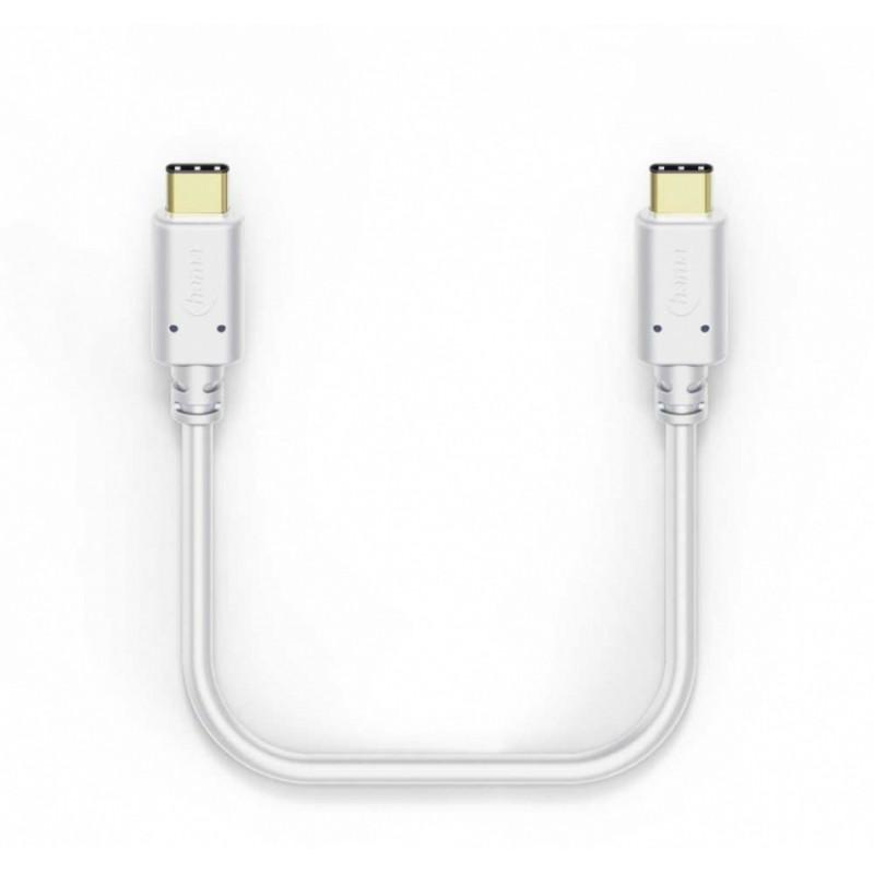 Кабель Hama 00183330 USB Type-C (m) USB Type-C (m) 1м белый