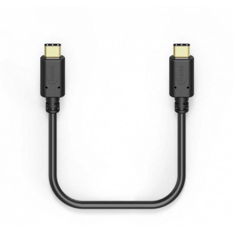 Кабель Hama 00183331 USB Type-C (m)-USB Type-C (m) 1м черный