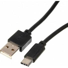 Кабель USB (m)-USB Type-C (m) 1.8м черный