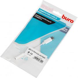 Переходник Buro BHP TPC-JCK USB Type-C (m) Jack 3.5mm (f) белый