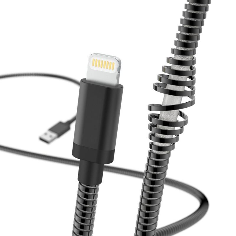 Кабель Hama 00183339 USB (m)-Lightning (m) 1.5м черный