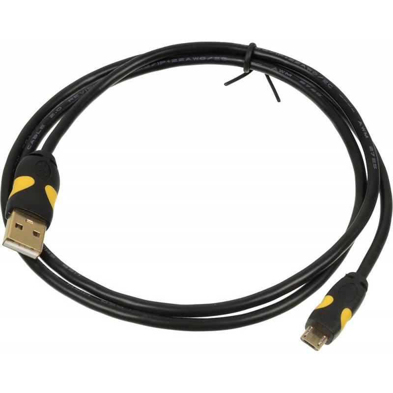 Кабель 2A Smooth Connector micro USB B (m) USB A(m) 1м черный