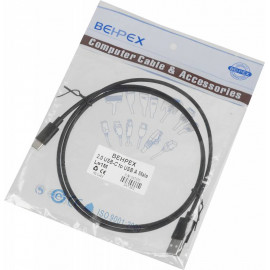 Кабель USB (m)-USB Type-C (m) 1м черный