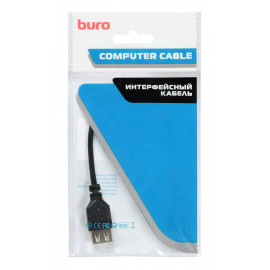 Кабель OTG Buro USB A(f) micro USB B (m) 0.2м черный
