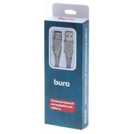 Кабель Buro BHP RET USB_AF30 USB A(m) USB A(f) 3м серый блистер