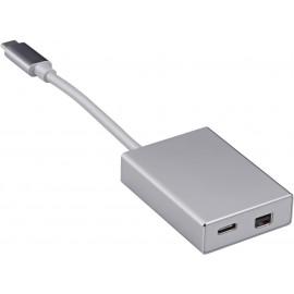 Адаптер Buro BHP USB Type-C (m) USB Type-C (f) miniDisplayPort (f) 0.1м серебристый