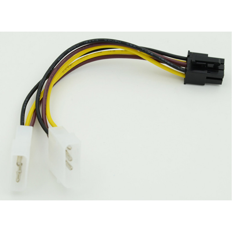 Кабель Molex 8980 PCI-E 6pin 0.15м