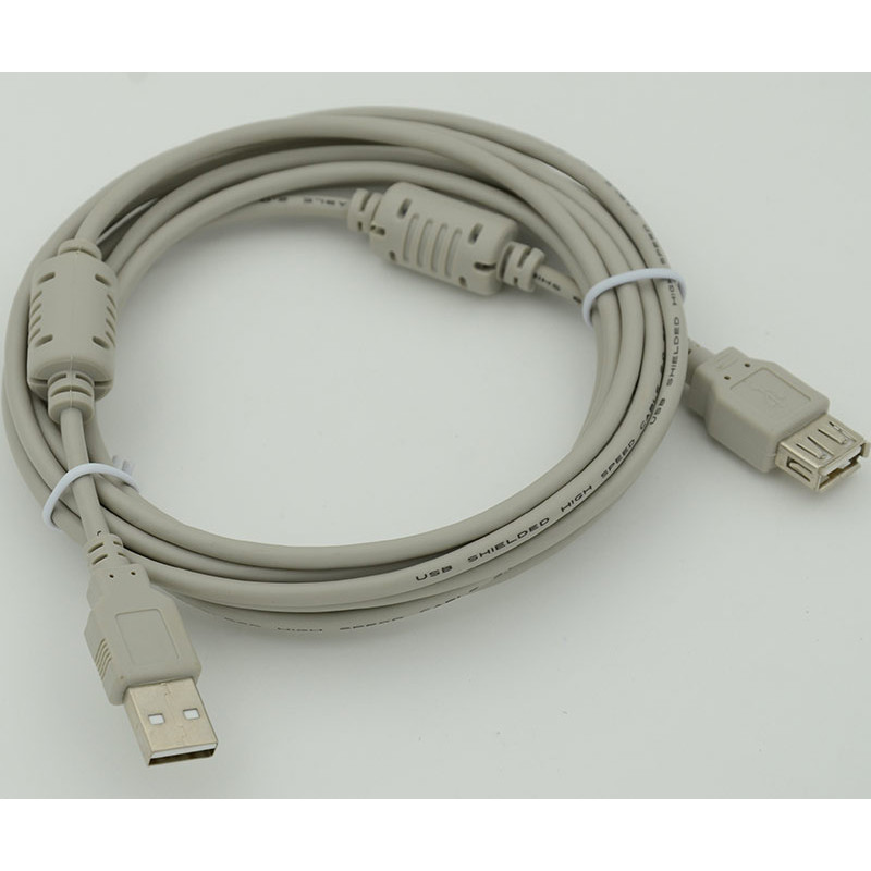 Кабель-удлинитель 744792 USB A(m) USB A(f) 3м феррит.кольца серый