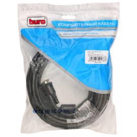 Кабель Buro HDMI-19M-DVI-D-10M HDMI (m) DVI-D (m) 10м феррит.кольца черный