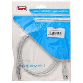 Кабель Buro USB2.0-AM/BM-Trans USB A(m) USB B(m) 1.8м прозрачный