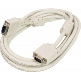 Кабель Ningbo CAB016S-10F VGA (m) VGA (m) 3м феррит.кольца белый