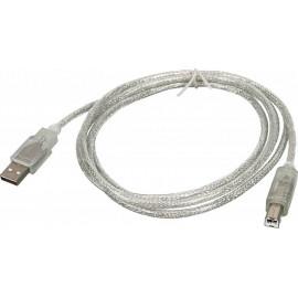 Кабель Ningbo USB A(m) USB B(m) 1.8м прозрачный