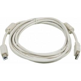 Кабель Ningbo USB2.0-AM/BM-3M-MG USB A(m) USB B(m) 3м феррит.кольца серый