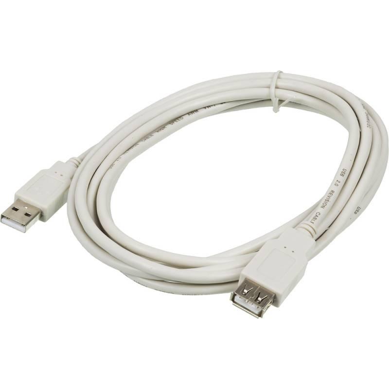 Кабель-удлинитель Ningbo USB A(m) USB A(f) 3м серый