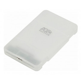 Внешний корпус для HDD/SSD AgeStar 3UBCP1-6G SATA пластик белый 2.5