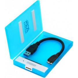 Внешний корпус для HDD/SSD AgeStar 3UBCP1-6G SATA пластик синий 2.5