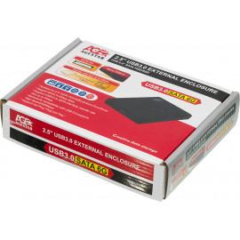Внешний корпус для HDD AgeStar 3UB2P2 SATA III пластик черный 2.5
