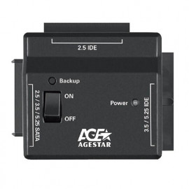 Адаптер-переходник для HDD AgeStar FUBCP2 IDE SATA пластик черный 2.5