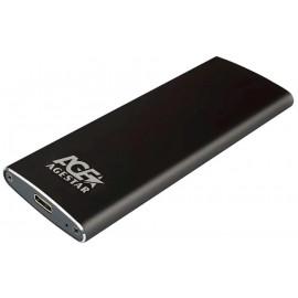 Внешний корпус SSD AgeStar 3UBNF2C m2 NGFF 2280 B-Key USB 3.1 алюминий черный