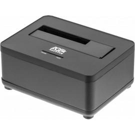 Док-станция для HDD AgeStar 3UBT7 SATA III пластик/алюминий черный 1