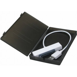 Внешний корпус для HDD/SSD AgeStar SUBCP1 SATA пластик черный 2.5