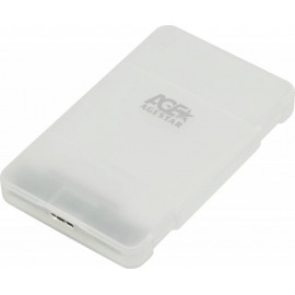 Внешний корпус для HDD/SSD AgeStar 3UBCP3 SATA пластик белый 2.5