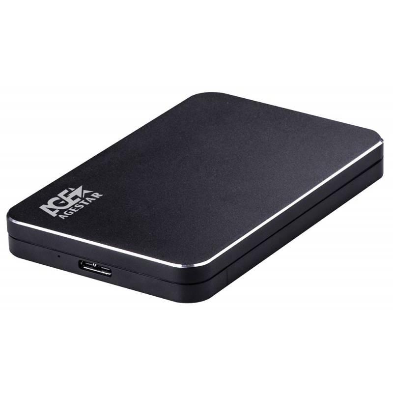 Внешний корпус для HDD AgeStar 3UB2A18 SATA алюминий черный 2.5