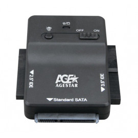 Адаптер-переходник для HDD AgeStar 3FBCP1 IDE SATA пластик черный 2.5