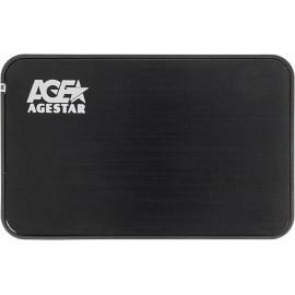 Внешний корпус для HDD/SSD AgeStar 3UB2A8-6G SATA III пластик/алюминий черный 2.5