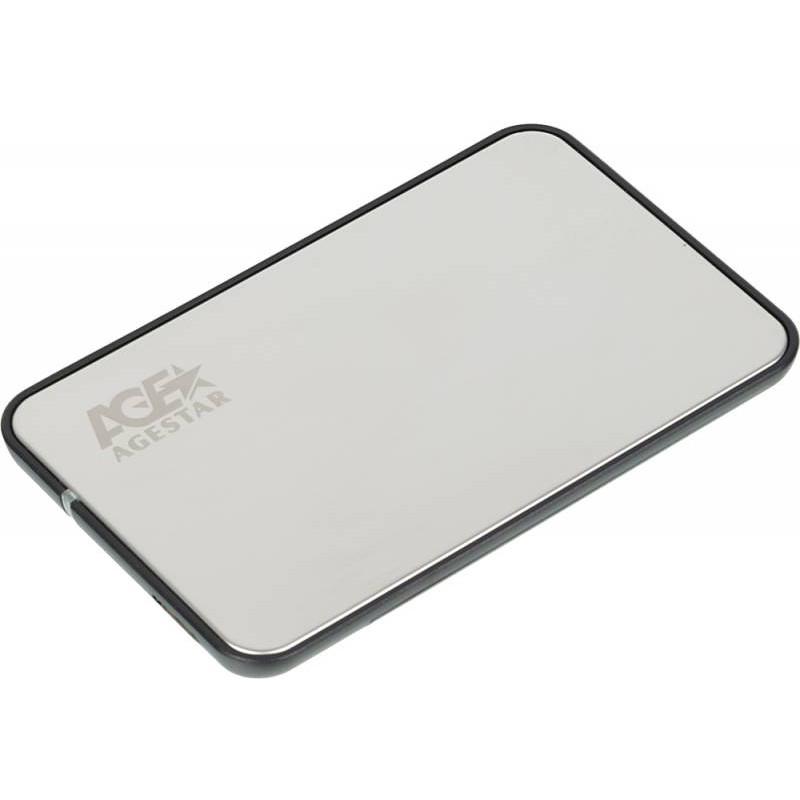 Внешний корпус для HDD/SSD AgeStar 3UB2A8S-6G SATA III пластик/алюминий серебристый 2.5
