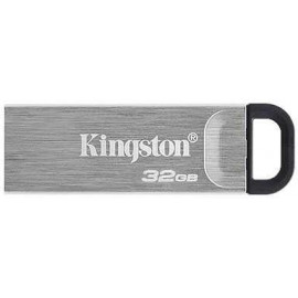 Флеш Диск Kingston 32Gb DataTraveler Kyson DTKN/32GB USB3.1 серебристый/черный