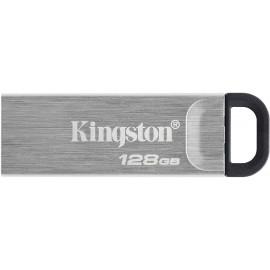 Флеш Диск Kingston 128Gb DataTraveler Kyson DTKN/128GB USB3.1 серебристый/черный