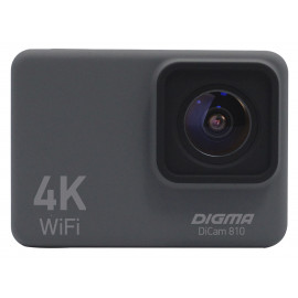 Экшн-камера Digma DiCam 810 серый