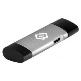 Устройство чтения карт памяти USB 2.0/Type C Digma CR-СU2520-G серый