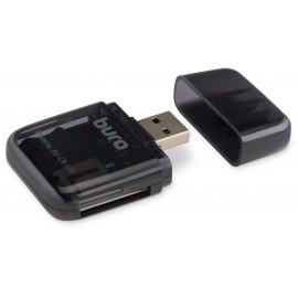 Устройство чтения карт памяти USB2.0 Buro BU-CR-110 черный