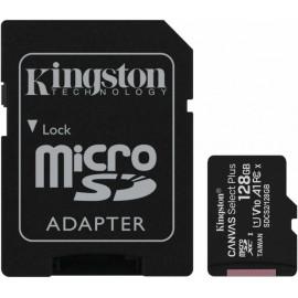 Флеш карта microSDXC 128Gb Class10 Kingston SDCS2/128GB CanvSelect Plus + adapter