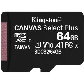 Флеш карта microSDXC 64Gb Class10 Kingston SDCS2/64GBSP Canvas Select Plus w/o adapter