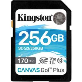 Флеш карта SDXC 256Gb Class10 Kingston SDG3/256GB Canvas Go! Plus w/o adapter
