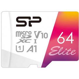 Флеш карта microSDXC 64Gb Class10 Silicon Power SP064GBSTXBV1V20SP Elite + adapter