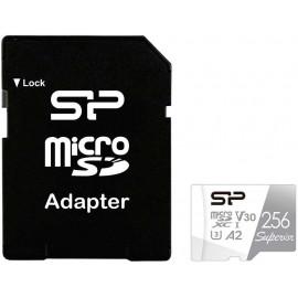 Флеш карта microSDXC 256Gb Class10 Silicon Power SP256GBSTXDA2V20SP Superior + adapter