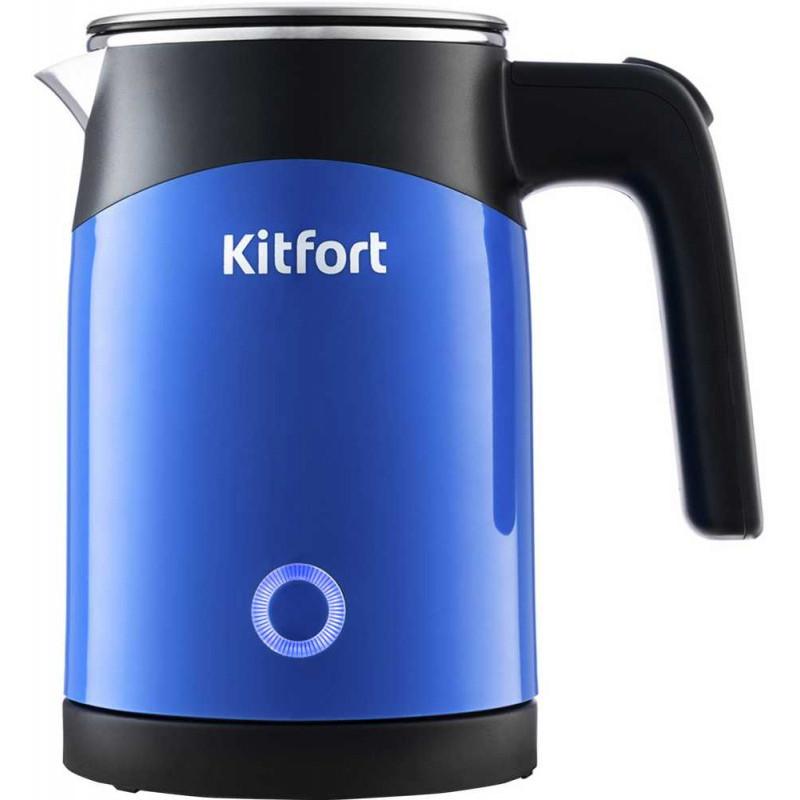 Чайник электрический Kitfort КТ-639-2 0.5л. 1150Вт синий (корпус: нержавеющая сталь/пластик)