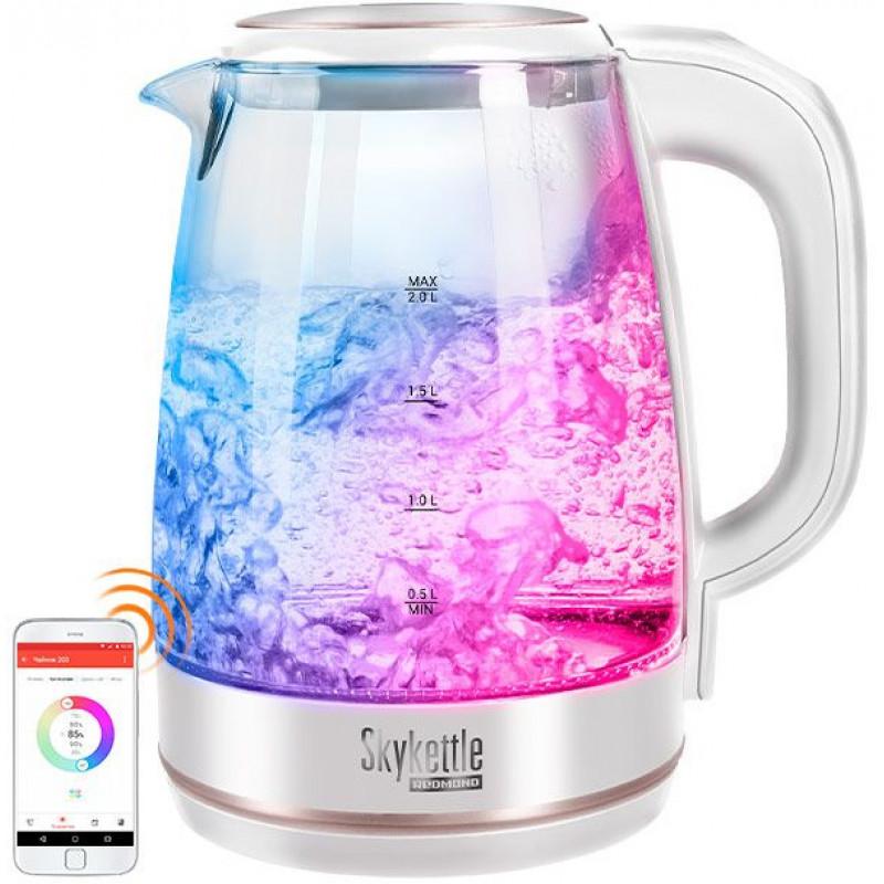Чайник электрический Redmond RK-G203S 1.7л. 2200Вт белый (корпус: пластик)