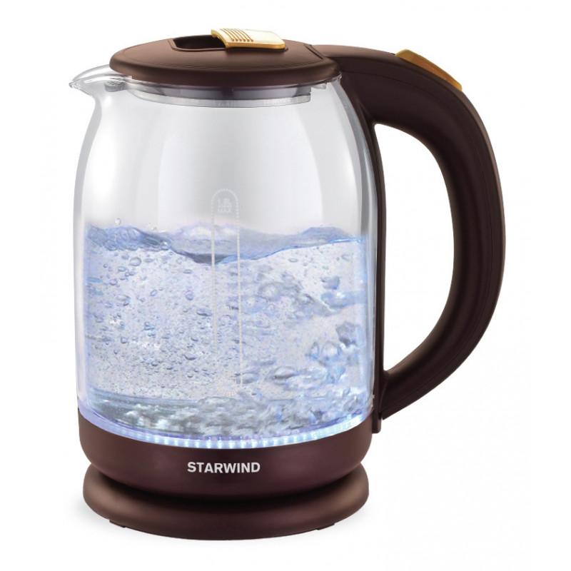 Чайник электрический Starwind SKG1052 1.8л. 1500Вт коричневый/бронзовый (корпус: стекло)